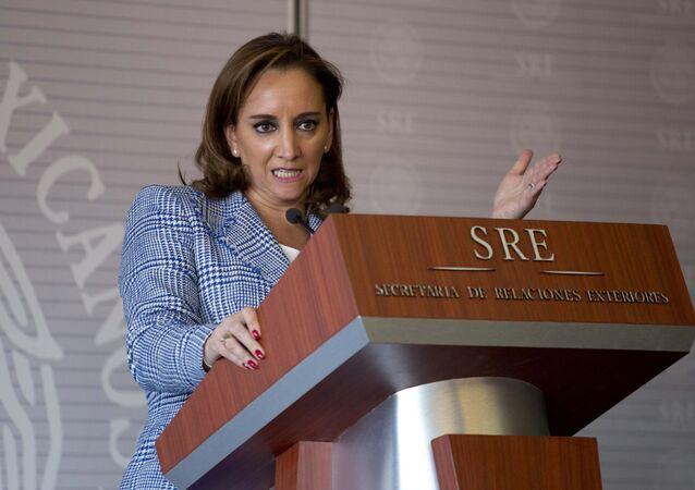 Claudia Ruiz Massieu, secretaria de Relaciones Exteriores de México