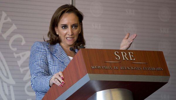 Claudia Ruiz Massieu, secretaria de Relaciones Exteriores de México - Sputnik Mundo