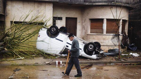 Lluvias e inundaciones en Uruguay causan daños históricos en cosecha de arroz - Sputnik Mundo