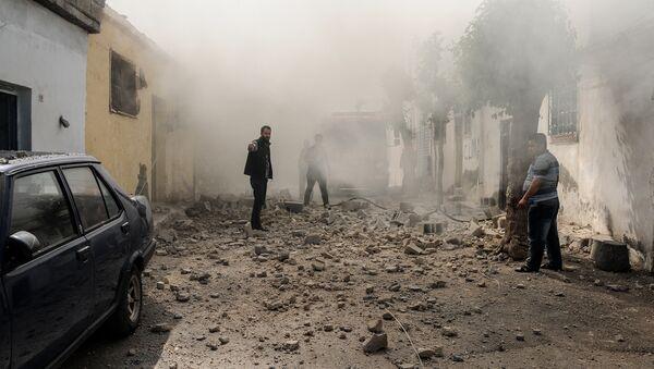 Consecuencias del ataque de los terroristas desde Siria en la ciudad turca de Kilis - Sputnik Mundo