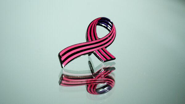 El lazo rosado, símbolo de la lucha contra el cáncer de mama - Sputnik Mundo