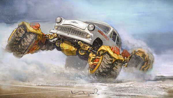 Mad Max a la soviética: el nuevo estilo de los coches antiguos - Sputnik Mundo