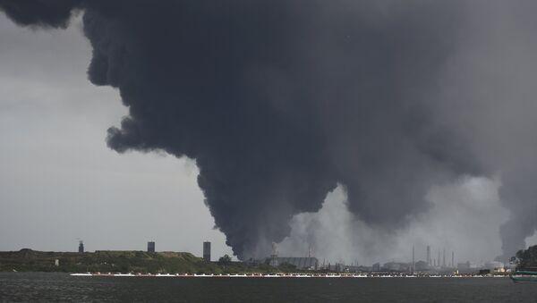 Lugar de la explosión de la planta petroquímica en México - Sputnik Mundo