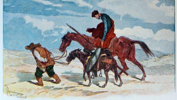 Ilustración de la obra del Quijote - Sputnik Mundo