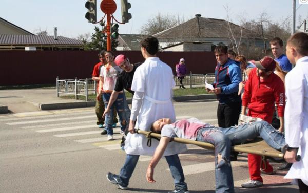 Participantes del flashmob en Jakasia - Sputnik Mundo
