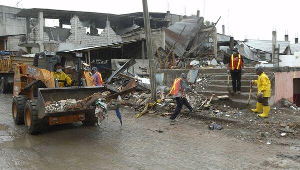 Consecuencias del terremoto en Ecuador (archivo) - Sputnik Mundo