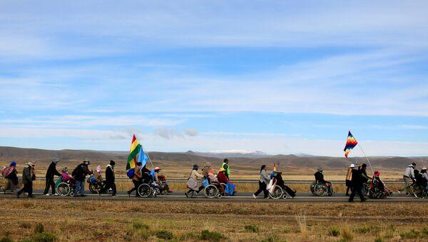 Protesta de discapacitados en Bolivia - Sputnik Mundo