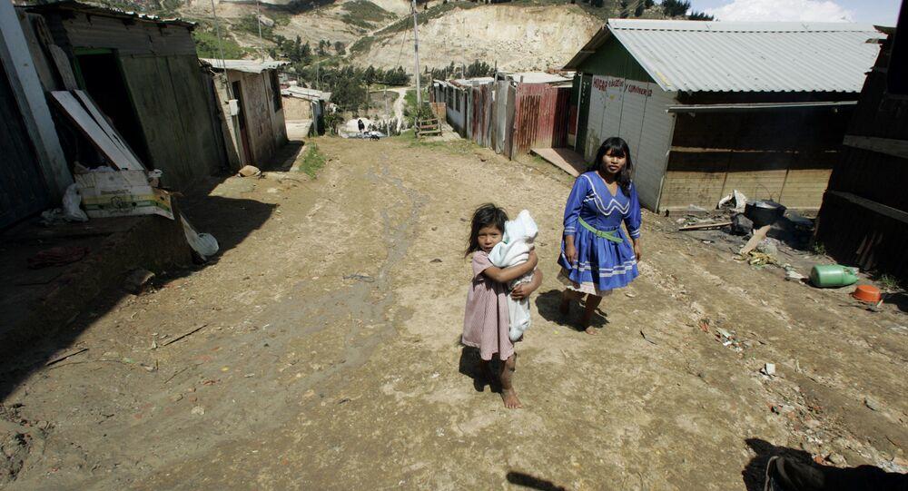 Familia indígena colombiana