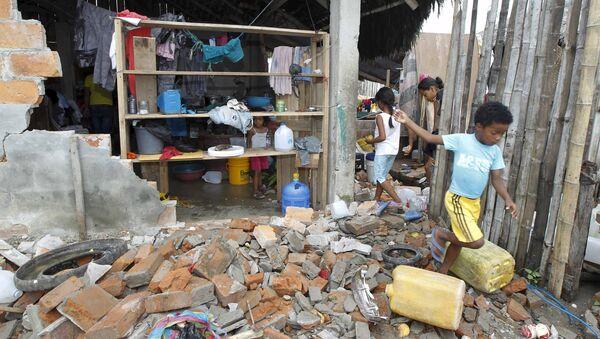Consecuencias del terremoto en Ecuador - Sputnik Mundo