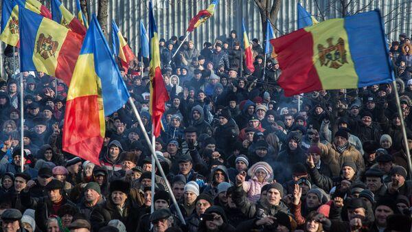 Manifestación de protesta en Moldavia, el 21 de abril de 2016 - Sputnik Mundo