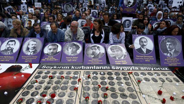 Manifestación en memoria de las víctimas de la matanza de 1915 en el Imperio Otomano - Sputnik Mundo