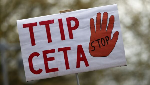 Manifestaciones en contra del TTIP y el CETA - Sputnik Mundo