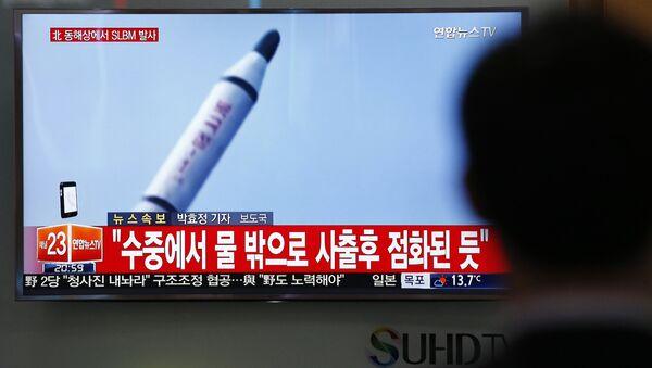 Lanzamiento de misil por Corea del Norte - Sputnik Mundo