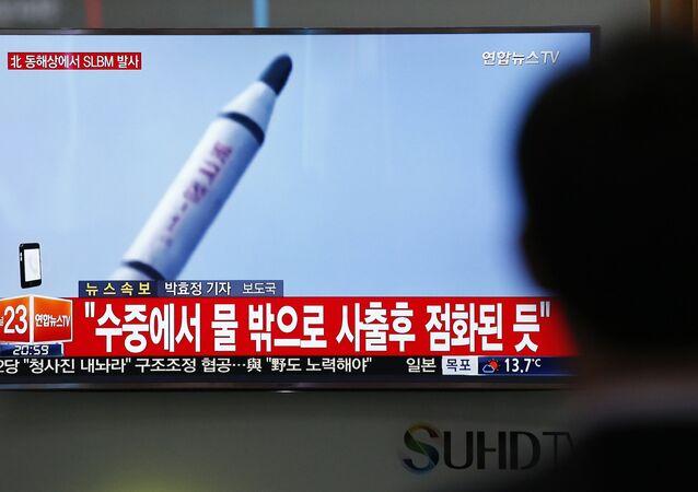 Lanzamiento de un misil de Corea del Norte (archivo)