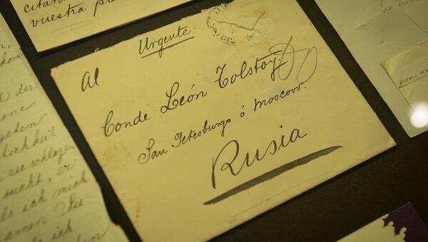 Cartas en la exposición 'León Tolstói y el mundo hispanohablante' - Sputnik Mundo