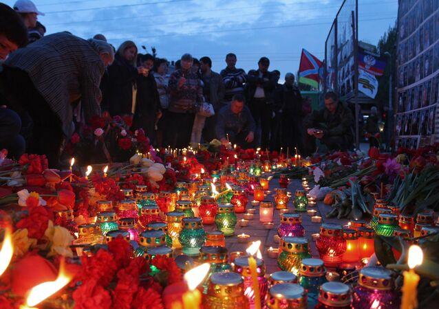 Acción en la memoria de los muertos en Odesa