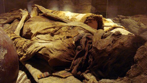 Momia peruana, Museo Brüning. Lambayeque, Perú. - Sputnik Mundo