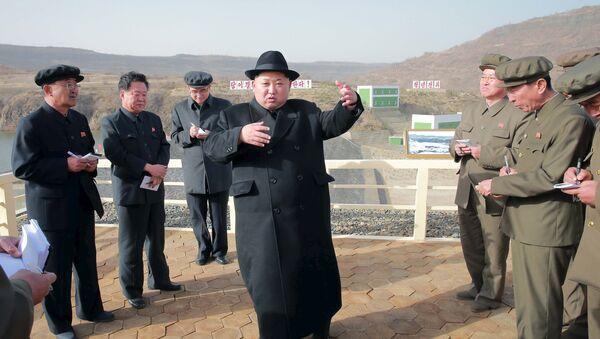 Kim Jong Un, líder norcoreano - Sputnik Mundo