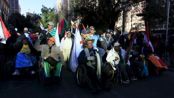 Marcha de personas con discapacidades en Bolivia - Sputnik Mundo