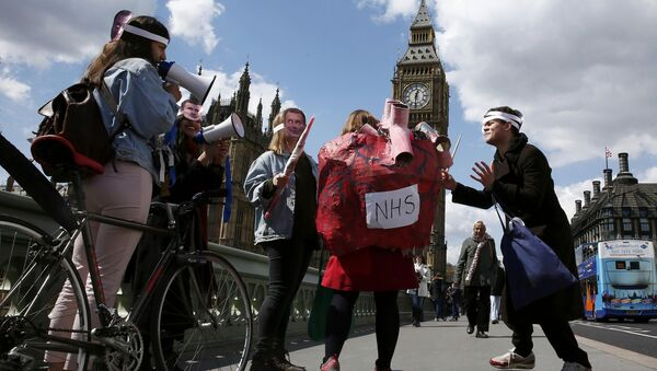 Huelga de médicos junior en Londres - Sputnik Mundo