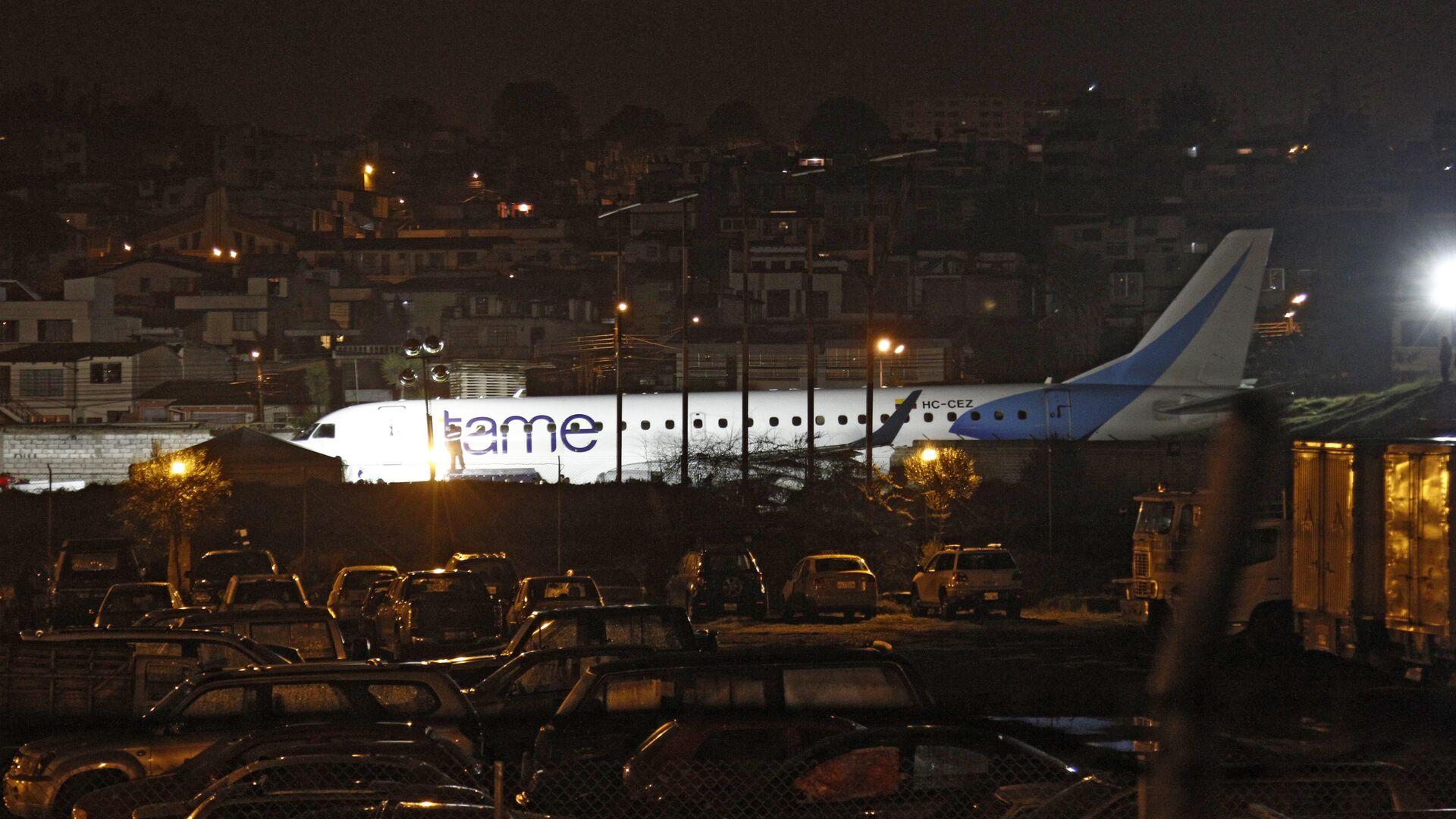 Avión de aerolínea ecuatoriana sale de pista en Aeropuerto internacional de Quito - Sputnik Mundo, 1920, 07.04.2021