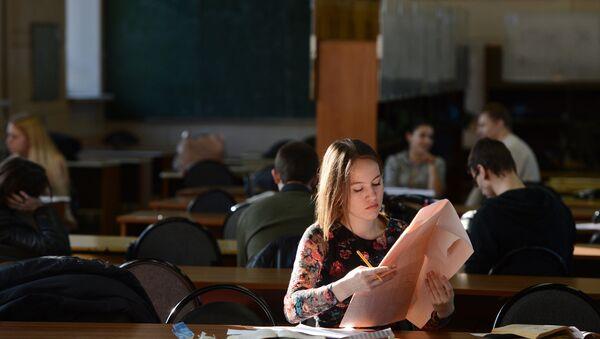 Estudiantes en la Universidad Técnica Estatal Bauman de Moscú - Sputnik Mundo