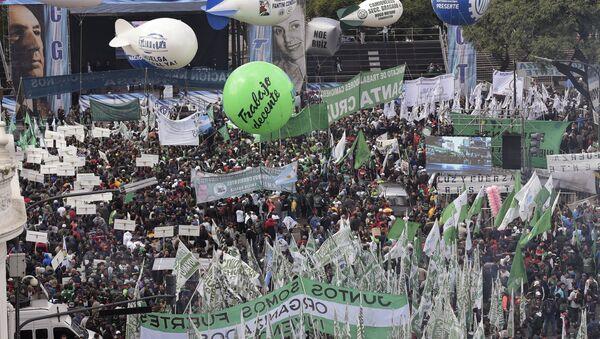 Manifestación contra el Gobierno argentino - Sputnik Mundo