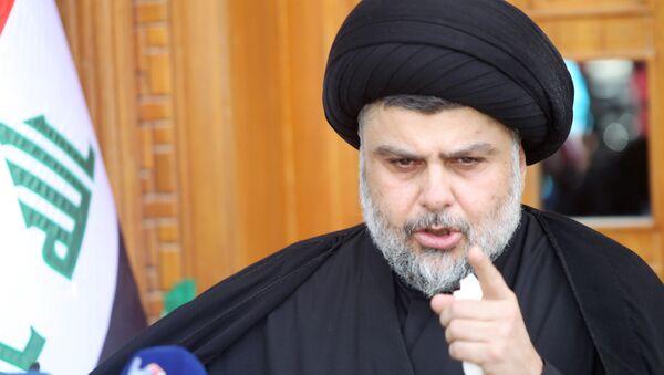 Prominent Iraqi Shi'ite cleric Moqtada al-Sadr speaks during news conference in Najaf - Sputnik Mundo