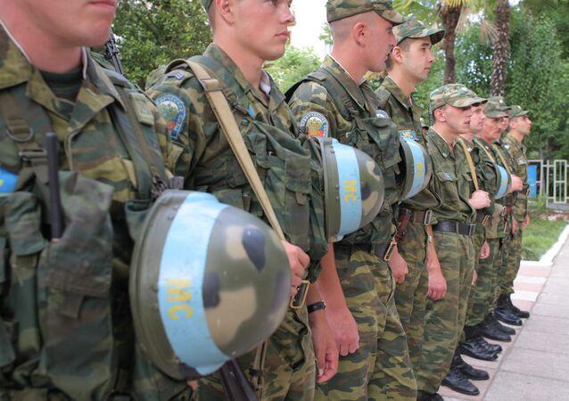 Los cascos azules rusos (archivo)