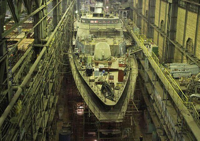 Fabricación de la corbeta Gremiaschi