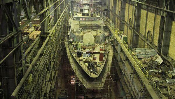 Fabricación de la corbeta Gremiaschi - Sputnik Mundo