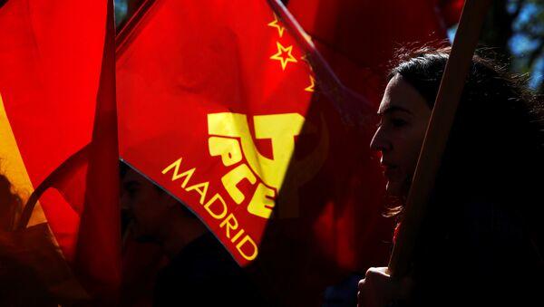 Simpatizantes del partido comunista en Madrid - Sputnik Mundo