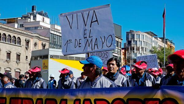 La manifestación del 1 de Mayo, La Paz - Sputnik Mundo