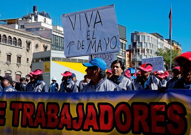 La manifestación del 1 de Mayo, La Paz