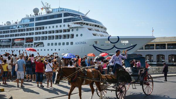 Llegada de crucero a la Habana desde EEUU - Sputnik Mundo