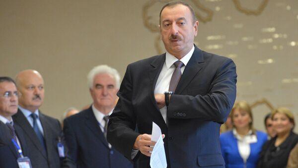 Ilham Aliev, presidente de Azerbaiyán - Sputnik Mundo