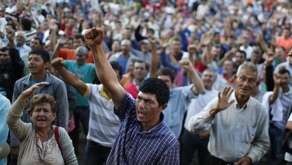 Manifestaciones por parte de los campesinos en Asunción, Paraguay (archivo) - Sputnik Mundo