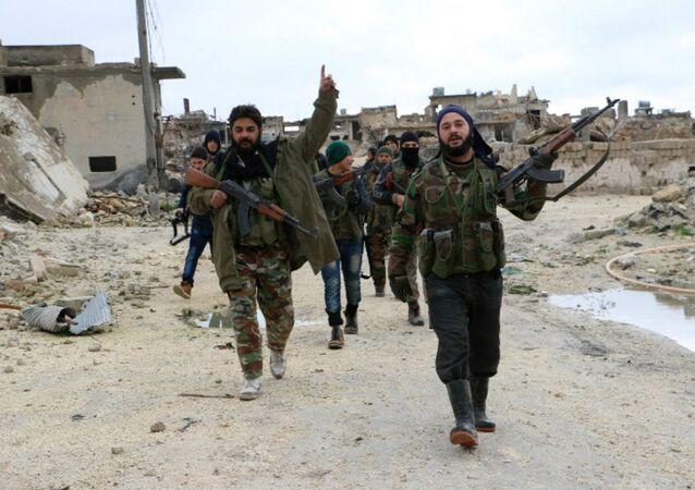 Los combatientes de la oposición armada siria en Alepo
