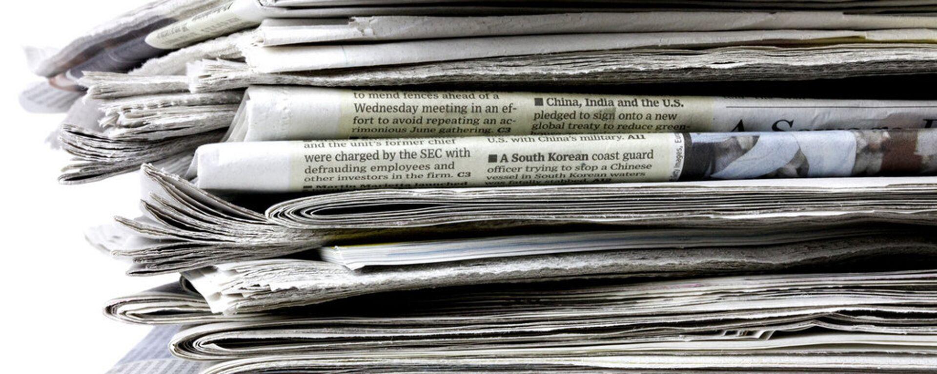 Periódicos (imagen referencial) - Sputnik Mundo, 1920, 10.06.2021