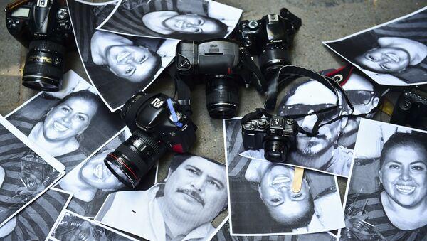 Fotos de periodistas mexicanos asesinados - Sputnik Mundo