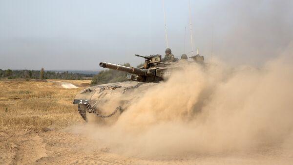 Tanque del Ejército israelí - Sputnik Mundo
