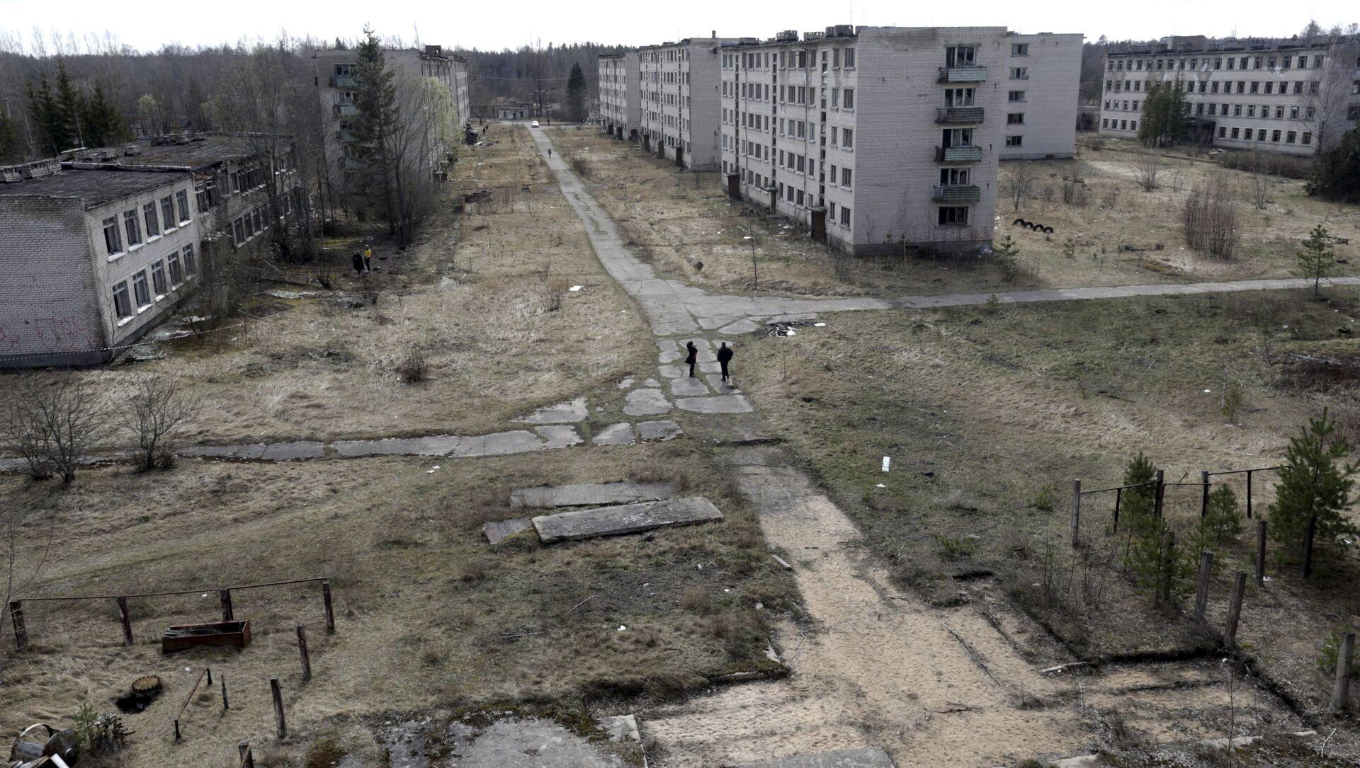 La vista de una ciudad abandonada en las cercanias de Skrunda, Letonia - Sputnik Mundo, 1920, 08.06.2018