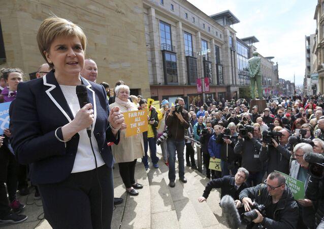 Nicola Sturgeon, líder del Partido Nacionalista de Escocia (SNP)