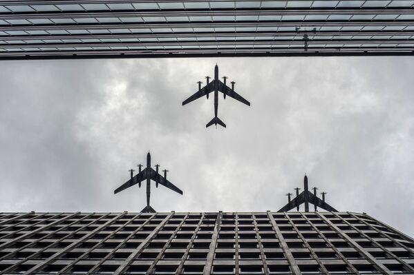 Primer ensayo en Moscú de las Fuerzas Aéreas para el Día de la Victoria - Sputnik Mundo