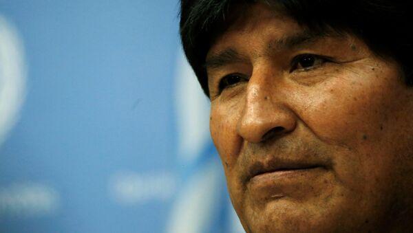El presidente boliviano Evo Morales - Sputnik Mundo