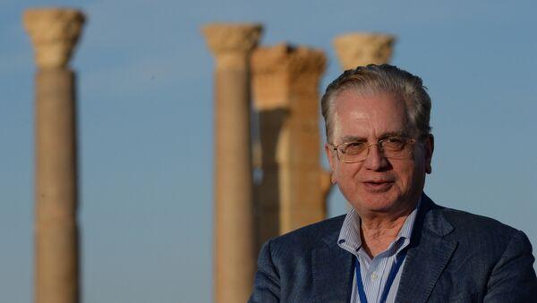 Director del Hermitage, Mijaíl Piotrovski, en Palmira - Sputnik Mundo