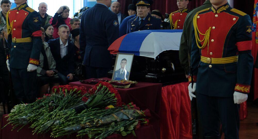 Funeral del Héroe de Rusia Alexandr Projorenko