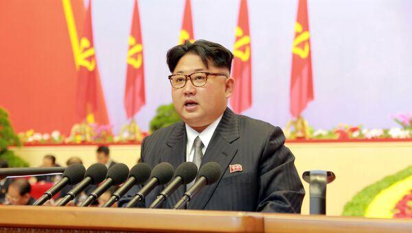 Líder norcoreano, Kim Jong-un durante el congreso del Partido de los Trabajadores de Corea - Sputnik Mundo