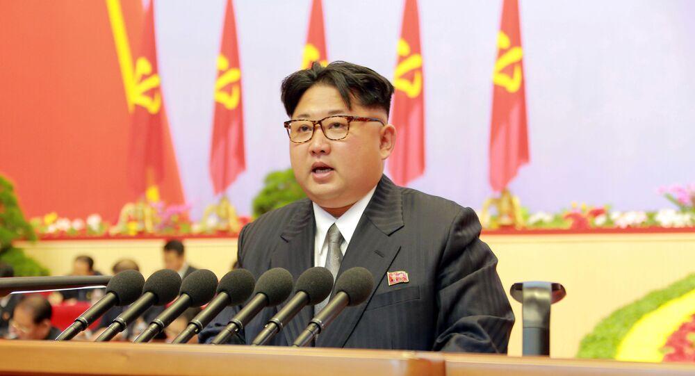 Líder norcoreano, Kim Jong-un durante el congreso del Partido de los Trabajadores de Corea