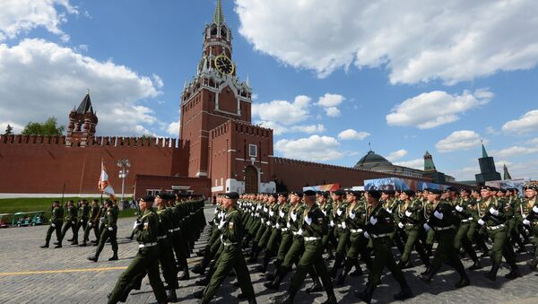 Ensayo del desfile del Día de la Victoria en Moscú - Sputnik Mundo